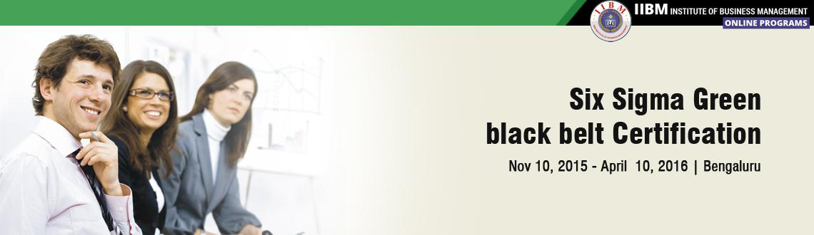 Six sigma green, black belt Certification