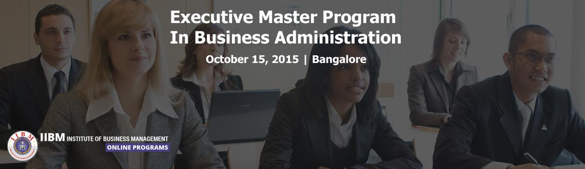 Executive Master Program In Business Administration