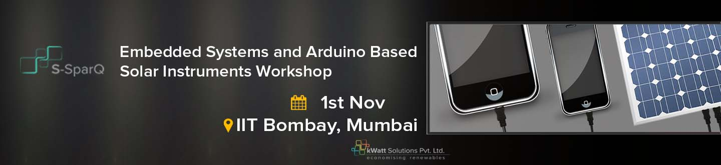 Book Online Tickets for Embedded Systems  Arduino based Solar In, Mumbai. 