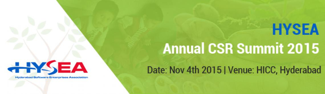 Book Online Tickets for Hysea Annual CSR summit 2015, Hyderabad. 