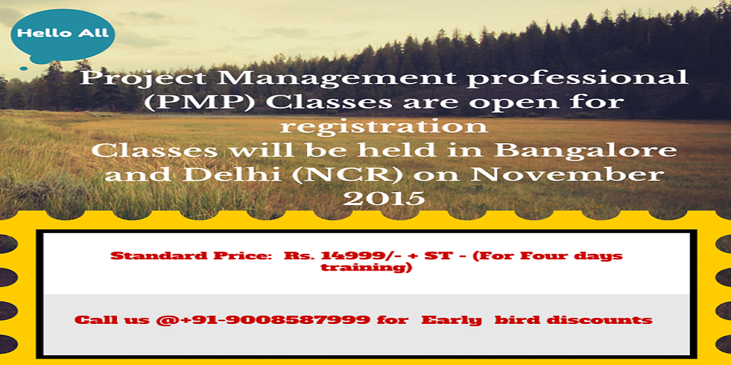 Project Management professional at Delhi- NCR ( Classroom Online)