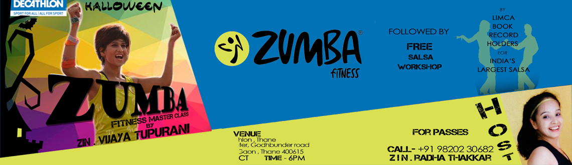 Book Online Tickets for Halloween Zumba Fitness Master Class Wit, Mumbai.