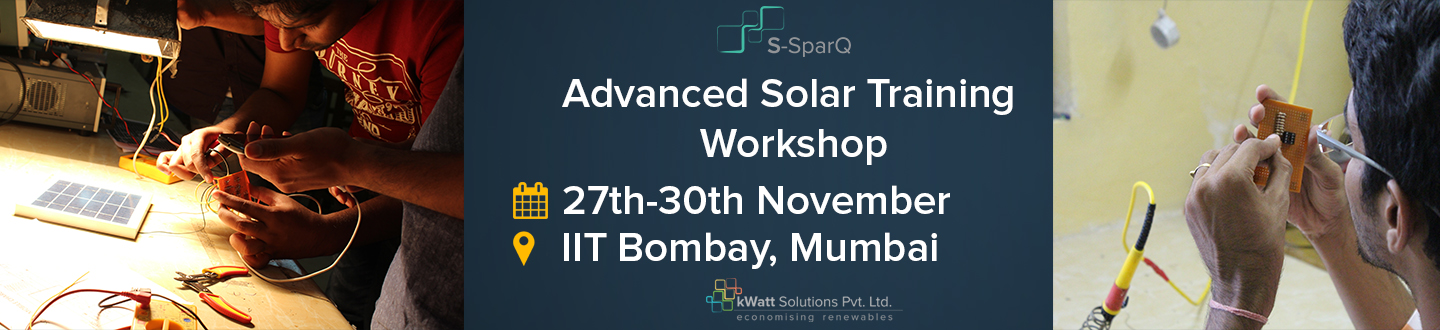 Book Online Tickets for Advanced Solar training workshop, Mumbai. 