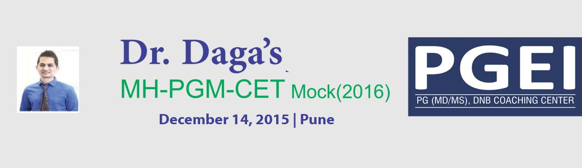 Book Online Tickets for Dr. Daga LIVE MHPGM-CET (2016) Mock @ Pu, Pune. 