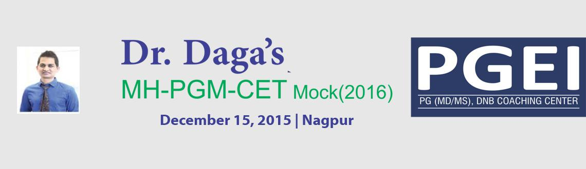 Book Online Tickets for Dr. Daga LIVE MHPGM-CET (2016) Mock @ Na, Nagpur. 