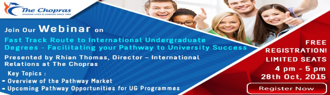 Book Online Tickets for Webinar on Fast Track Route to Internati, NewDelhi. Accelerate Your Career with a Fast Track UK Degree