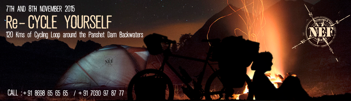 A two day cycling event circuiting the beautiful Panshet dam. Night stay in tents at our Panshet campsite.