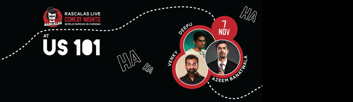 Book Online Tickets for RASCALS LIVE COMEDY NIGHT @ US 101,CHENN, Chennai. Stray Factory\\\'s Comedy wing \\\'Enna Da Rascalas\\\' is now one of South India\\\'s leading Comedy groups, we launched our Youtube channel in November 2014 and have over 3 million views on the Channel. We were the only group from the south invited