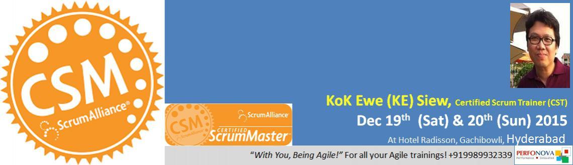 Book Online Tickets for Certified Scrum Master Workshop, Hyderabad. Certified ScrumMaster (CSM®) Certification ProgramVenue: Hotel Radisson, Gachibowli, Hyderabad – 500032 Your Coach for CSM certification:Kok Ewe (\\\