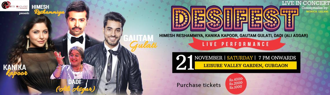 Book Online Tickets for Desifest 2015, Gurugram. Desi ShowBiz Entertainment has been at the forefront of entertainment events and concerts, roping in silver screen superstars to perform live in front of thousands of fans around the world. Staging its first live concert in Gurgaon in 2015, Desi Fest
