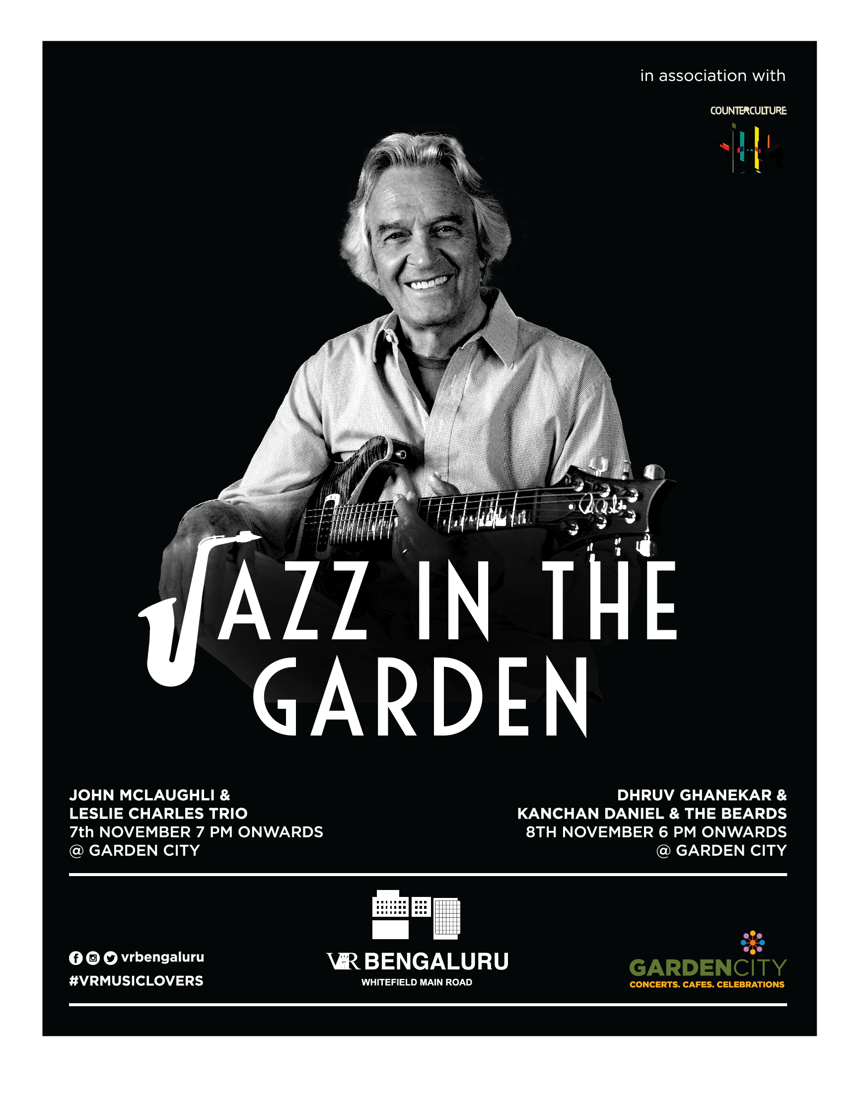 Relish Jazz in the Garden, only @ VR Bengaluru