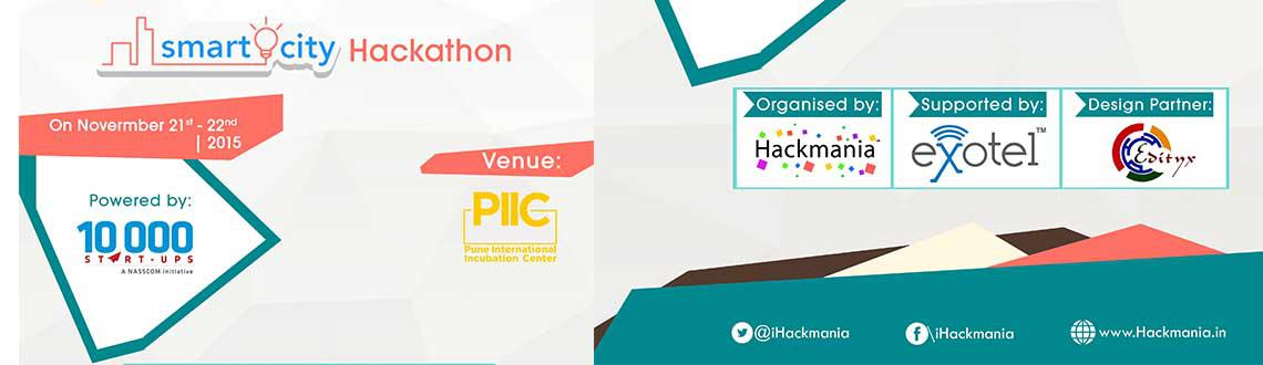 Book Online Tickets for Smart City Hackathon Pune International , Pune. HackMania presents Smart City Hackathon at Pune International Incubation Center powered by NASSCOM 10000 Startups.Tech & Non-Tech Internship offers from startups. Prizes worth more than INR 1,00,000 to be won.Theme: Smart CitiesTechnology Stack: