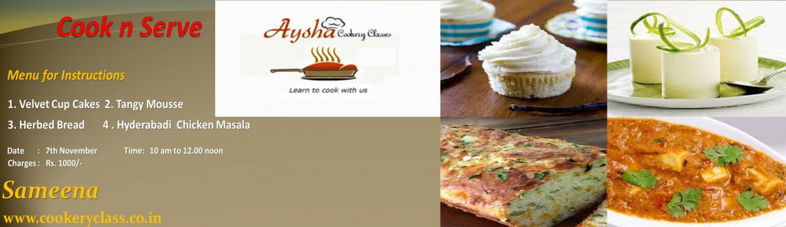 Book Online Tickets for Cookery Workshop, Chennai.