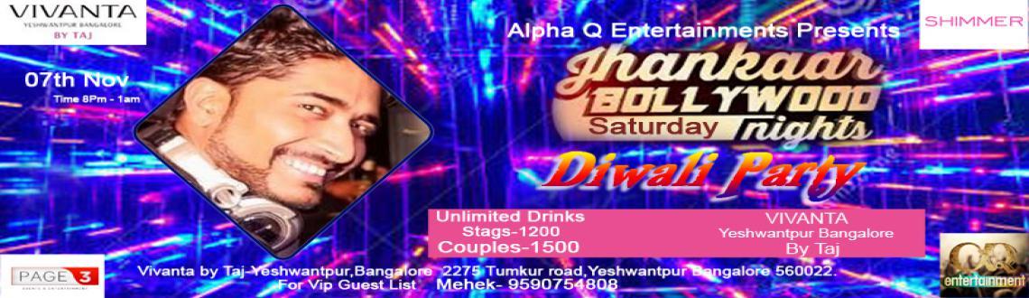 Jhankaar Bollywood Saturday Nights is Back as Diwali Party