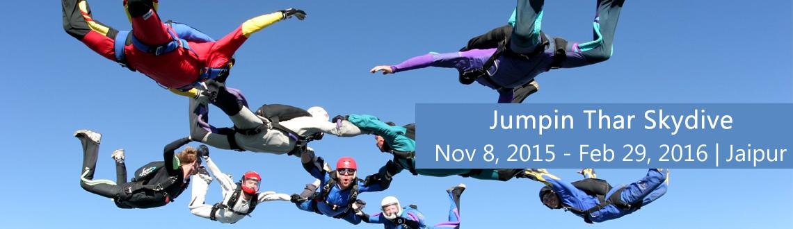 Book Online Tickets for Jumpin Thar Skydive, Jaipur. \