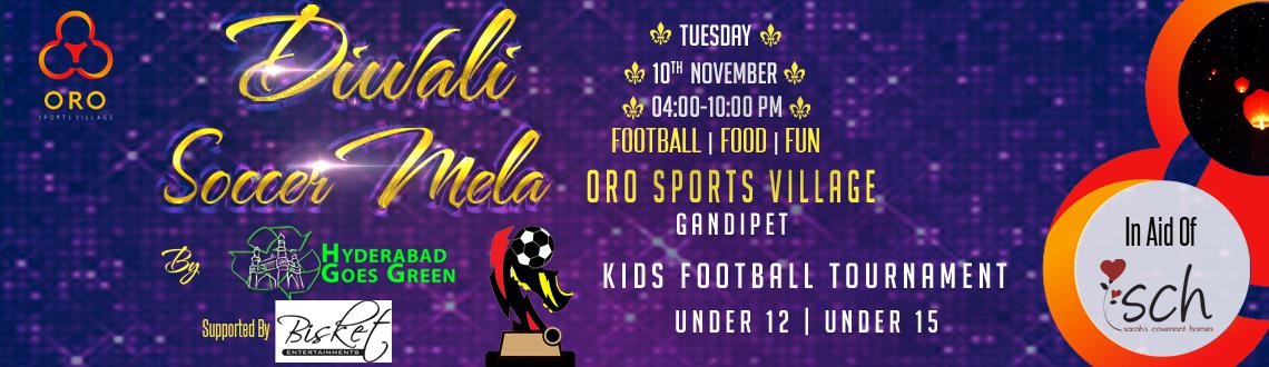 Book Online Tickets for Diwali Soccer Mela By ORO Sports, Hyderabad. Diwali Soccer Mela is a charity event in aid of Sarah\\'s Covenant Homes by Oro Sports Village in Partnership with Hyderabad Goes Green.Sarah\\'s Covenant Homes is an orphan care home for special needs children in India.