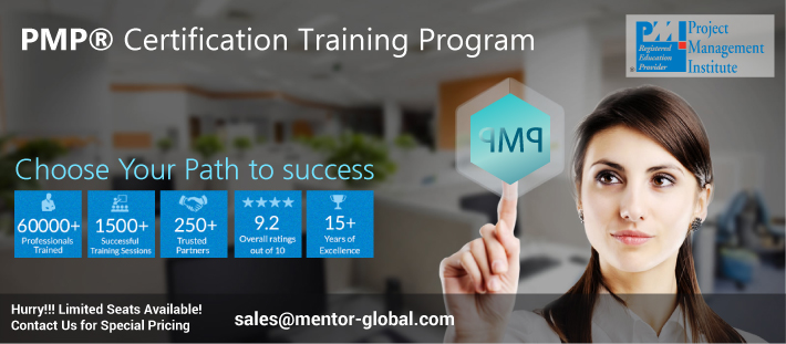 Book Online Tickets for 4 Days PMP Classroom Training in Bangalo, Bengaluru. Mentor Global, guided by transformational Project Portfolio Management evangelists, is proud to announce a PMP® Certification Program designed to equip you with the concepts and methodologies necessary to be a successful project manager. When you