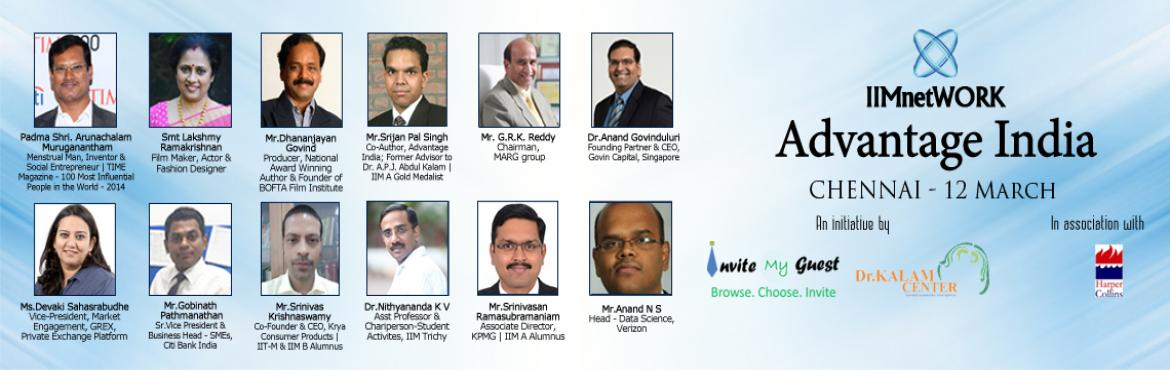 IIMnetWORK Advantage India Conclave-Chennai (12 March)