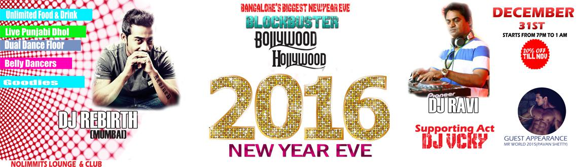 Bangalores Biggest NYE 16: Holly-Bollywood Extravaganza