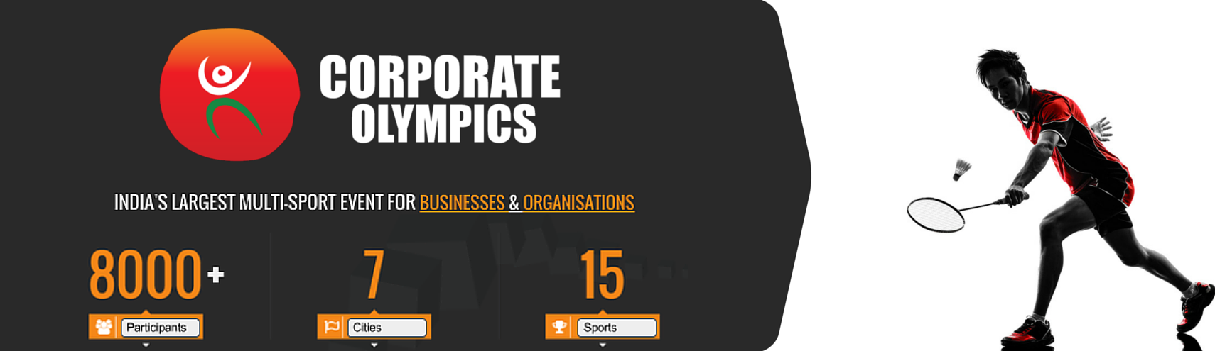 Book Online Tickets for Corporate Olympics (Badminton), Pune. 