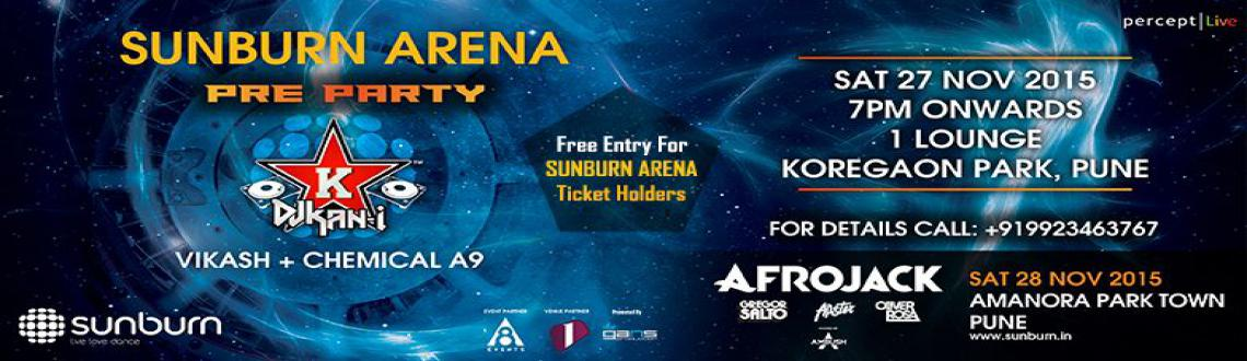 Book Online Tickets for Sunburn Arena Pre party, Pune. We got a special gig coming your way pune !