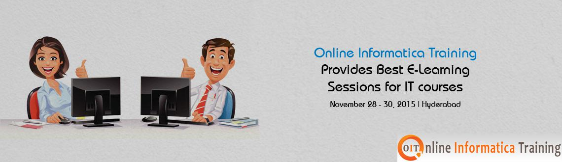 Book Online Tickets for Online Informatica Training Provides Bes, Hyderabad. Online Informatica Training starts online classes on every Monday for new batches. The learners who are dreamed their career with an IT profession, join the free Live Demo sessions and start your career by learning the leading IT courses under the Pr