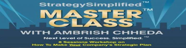 StrategySimplified MasterClass With Ambrish Chheda: 8 Sessions Workshop On- \