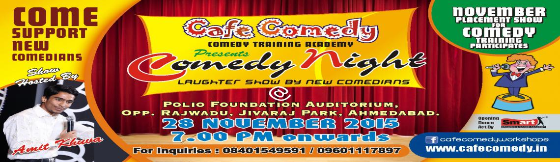 Book Online Tickets for Comedy Night, Ahmedabad. Café Comedy (India's first & only comedy training institute & Gujarat's finest group of comedians run by Mr. Amit Khuva) presents 'Laughter Night'. New Comedians will perform Standup comedy performances, mimicry
