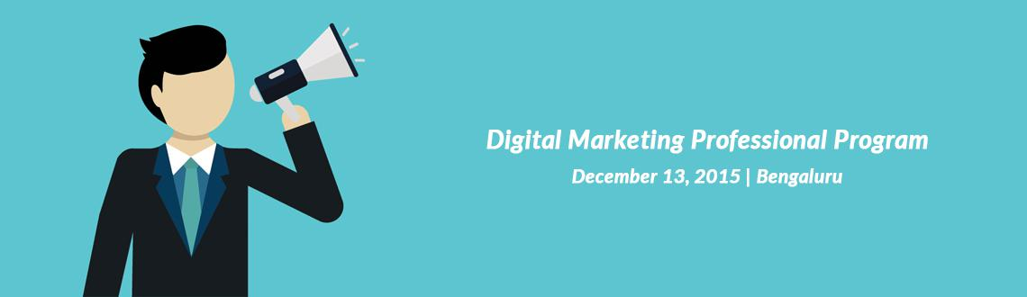 Book Online Tickets for Digital Marketing Professional Program i, Bengaluru. Manipal ProLearn is conducting Digital Marketing Professional Program to educate students in the areas of Digital Marketing. 3-month course spanning 80 hours of learning engagement (40 hrs classroom training, 20 hrs e-learning & 20 hrs project).