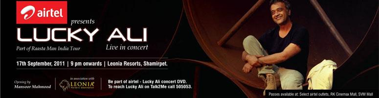 Airtel Presents Lucky Ali Live in concert- 17th September - Leonia