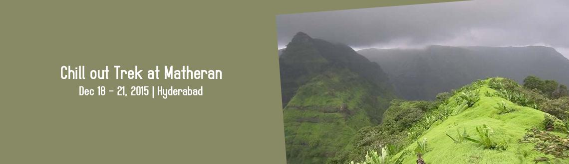 Book Online Tickets for Chill out Trek at Matheran, Hyderabad. About Place: Matheran lies in an elevated region, enjoys a cooler and less humid climate which makes it popular during the summer months. Temperatures range from 32 °C (90 °F) to 16 °C (61 °F). Matheran has a