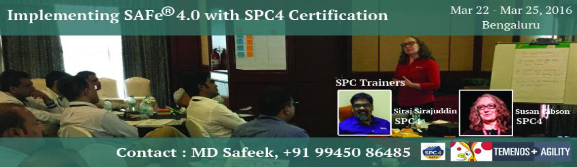 Implementing SAFe 4.0 with SPC4 Certification