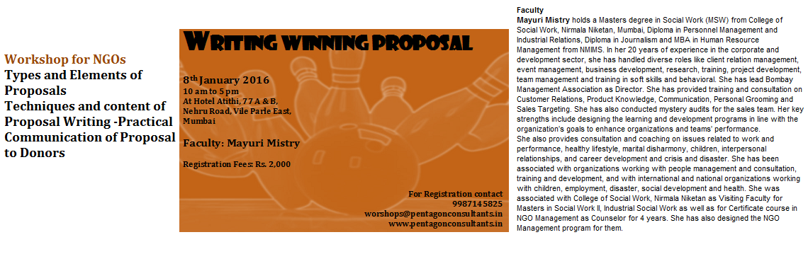 Proposal Writing Workshop for NGOs