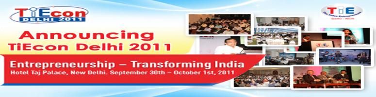 Book Online Tickets for TiEcon Delhi 2011, NewDelhi. Tie