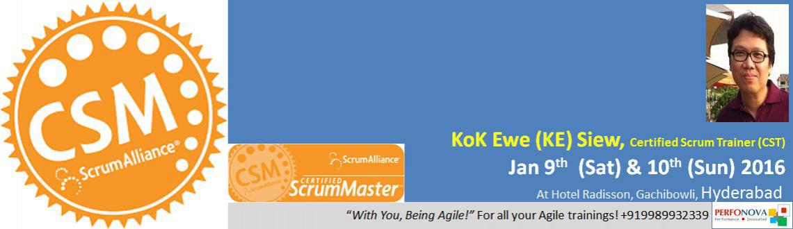 Book Online Tickets for Certified ScrumMaster (CSM) Workshop, Hyderabad. Certified ScrumMaster (CSM®) Certification ProgramVenue: Hotel Radisson, Gachibowli, Hyderabad – 500032 Your Coach for CSM certification:Kok Ewe (\\\