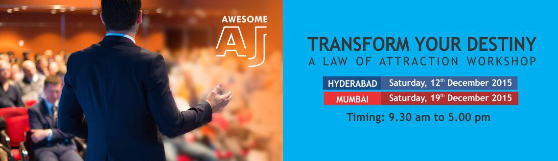 A workshop by Awesome AJ, an authority in this subject who will teach you how to use law of attraction to manifest your dreams into reality.