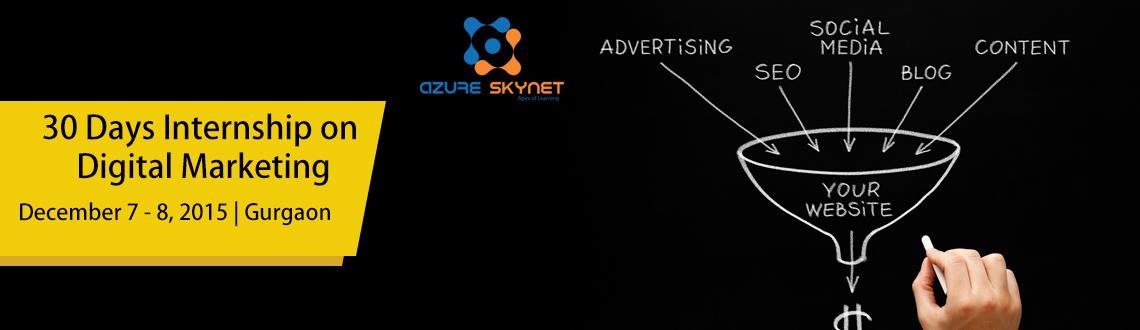 30 Days Internship on Digital Marketing (PPC) by Azure Skynet. Learn Google Adwords and Bing ads.