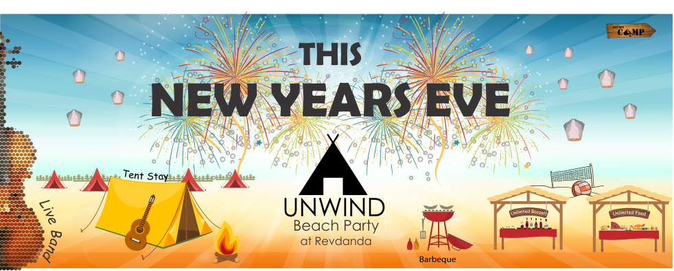 Book Online Tickets for UNWIND New Years Eve Beach Camping Party, Revdanda. Who's invited? Stags, couples