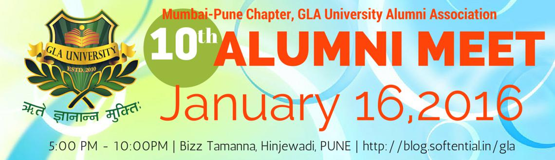 Book Online Tickets for GLA University Alumni Meet - Pune : 2016, Pune. We are organizing the Inauguration Ceremony of the Mumbai-Pune Chapter of GLA University Alumni Association.