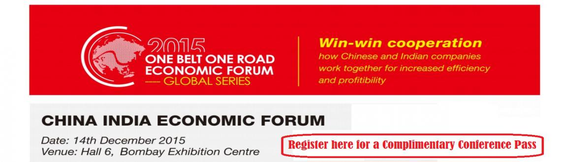 China India Economic Forum 2015