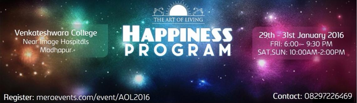 Book Online Tickets for The Art of Living Happiness Program - Ja, Hyderabad. Presenting The Art of Living entry level program in CYBERABAD