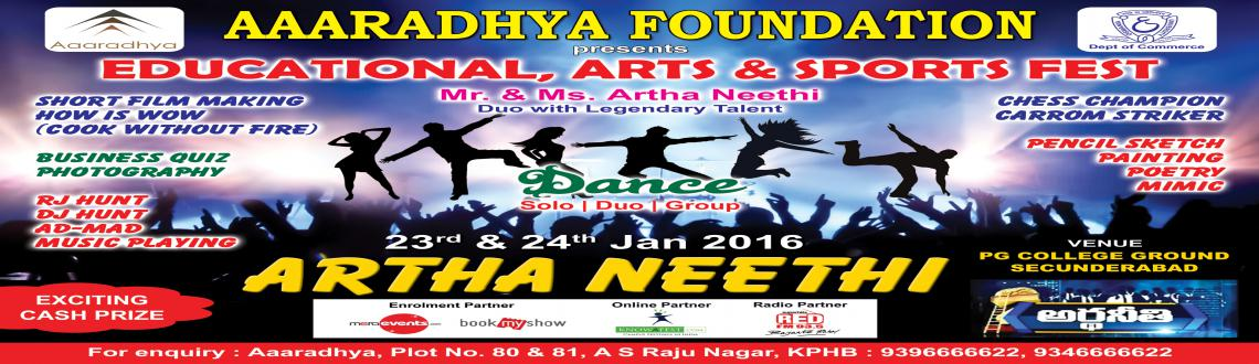 Book Online Tickets for ArthaNeethi DanceDuo, Secunderab.