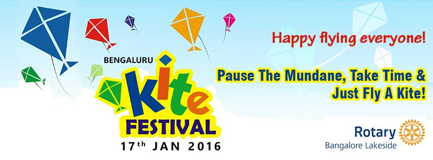 Book Online Tickets for Bengaluru Kite Festival - 2016, Bengaluru. Bengaluru Kite Festival 2016 is a family event full of fun, food, music and joy of kite flying! 5000+ people including 2000+ families are expected to attend this all day event.This event is evening organised by Rotary Bangalore Lakeside to rais