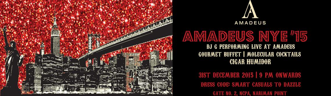Book Online Tickets for Amadeus NYE15, Mumbai. After another successful year, Amadeus is proud to announce that the most anticipated party of the year is back!!!