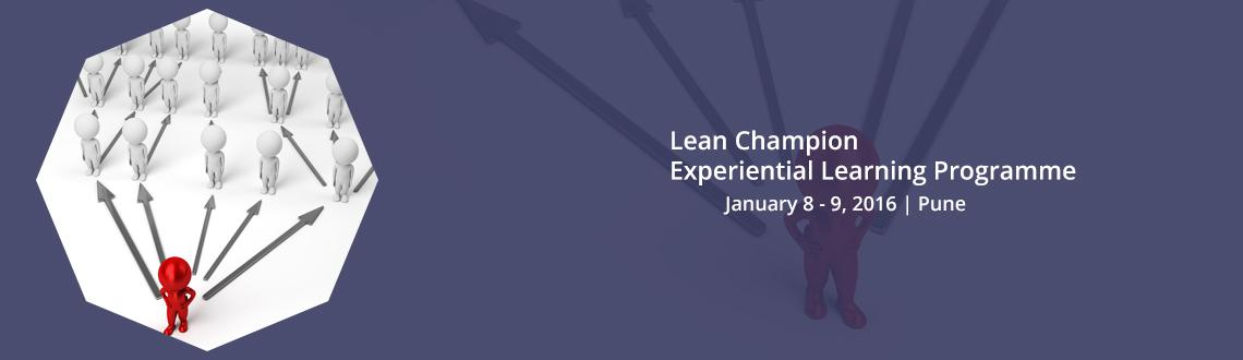Book Online Tickets for Lean Champion Experiential Learning Prog, Pune. Greetings from Seven Steps!
