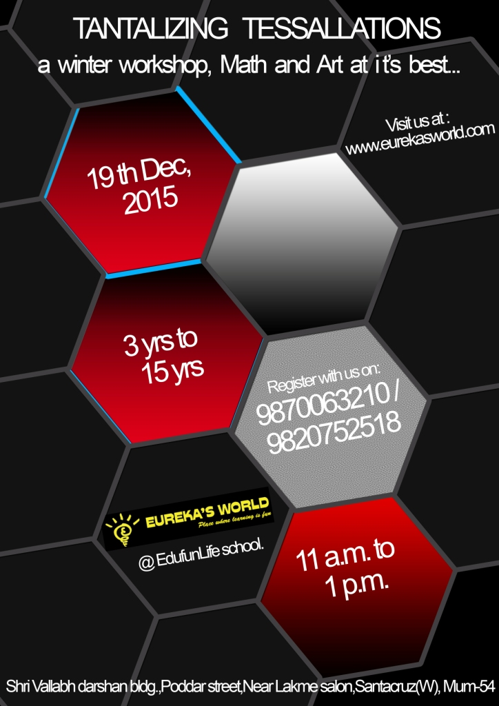 Math  Art..at its best..TANTALISING TESSALLATIONS