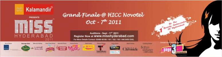 Book Online Tickets for Kalamandir Presents Miss Hyderabad 2011, Hyderabad. Kalamandir Presents Miss Hyderabad 2011 ...Book tickets online for the Grand Finale