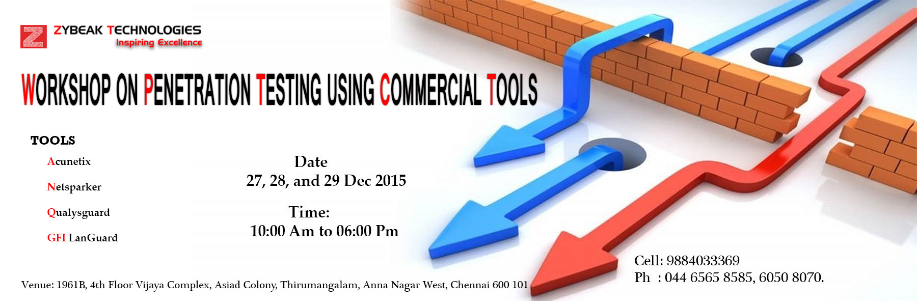 WORKSHOP ON PENETRATION TESTING USING COMMERCIAL TOOLS