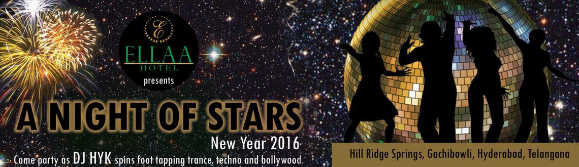 Book Online Tickets for A Night of Star - NYE 2016 at Ellaa Hote, Hyderabad. Whose Invited : Everyone   Food : Unlimited starters   Alcohol : Bar with unlimited beverages   The best of the parties in now in town and would be hosted at the Ellaa Hotel, Hill Ridge Springs, Gachibowli, Hyderabad. The venue is prou
