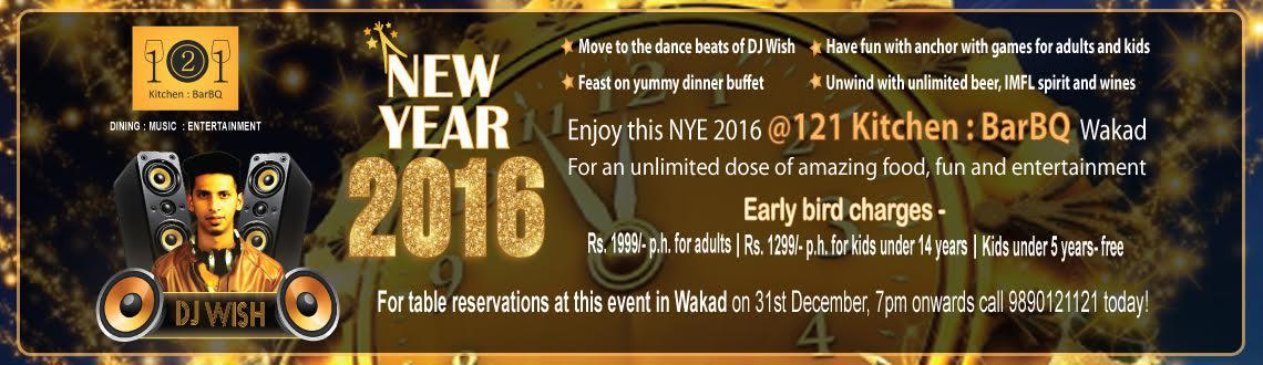 New Years Eve bash in Wakad, Pune at 121 Kitchen : BarBQ